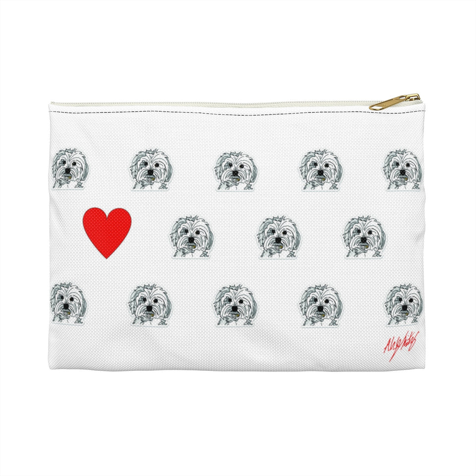 Maltese Dog Zipper Pouch - SMH