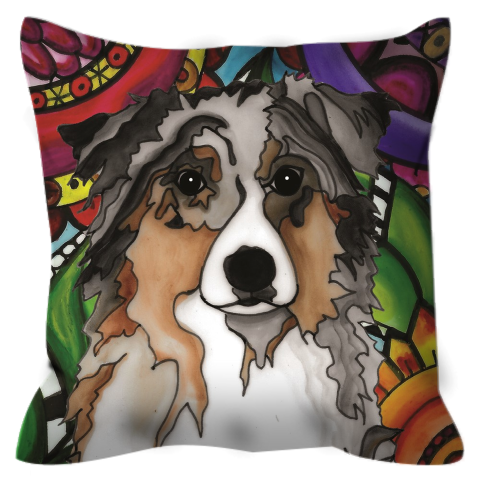 Australian Shepherd Dog Outdoor Pillow - BL
