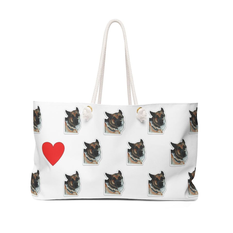 German Shepherd Dog Weekender Tote - 2 - SMH