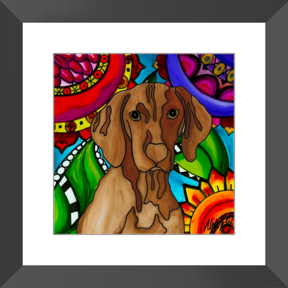 "Vizsla Dog 12"" Framed Print - BL"