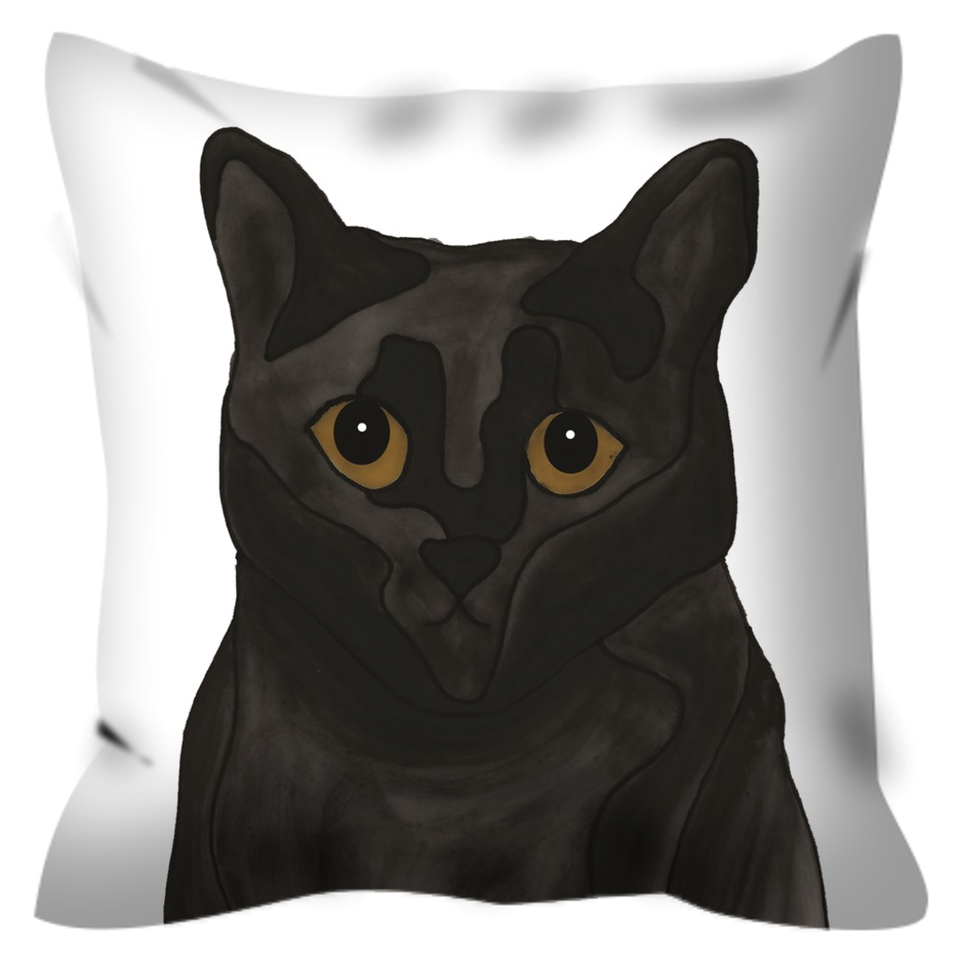 Black Cat Outdoor Pillow - SMH