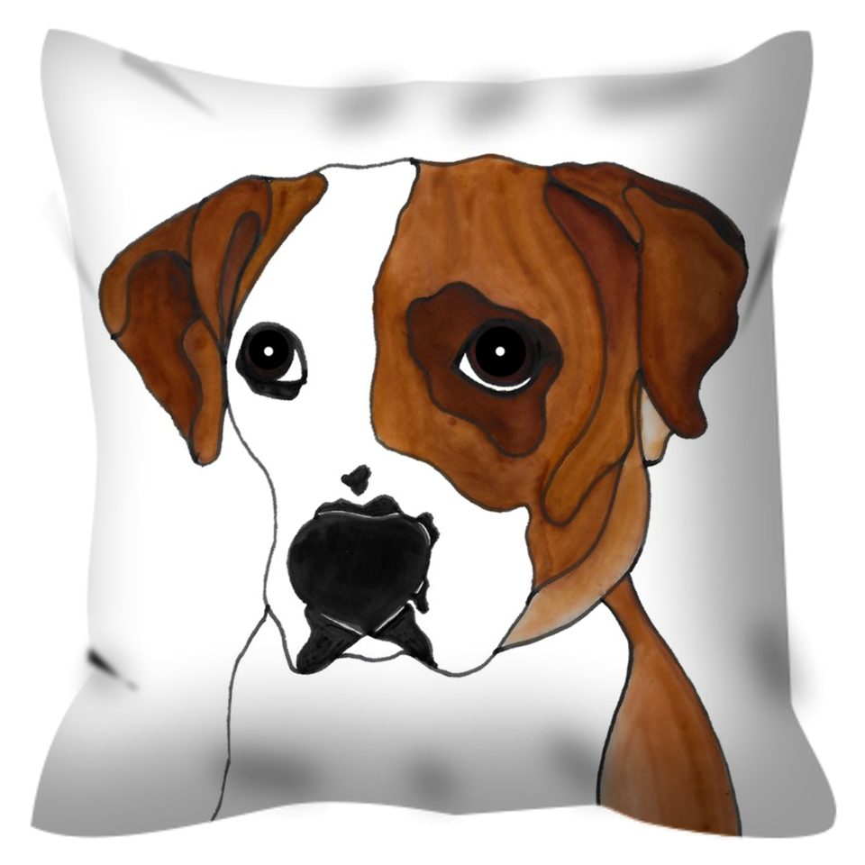 Boxer Dog Outdoor Pillow - 3 - SMH