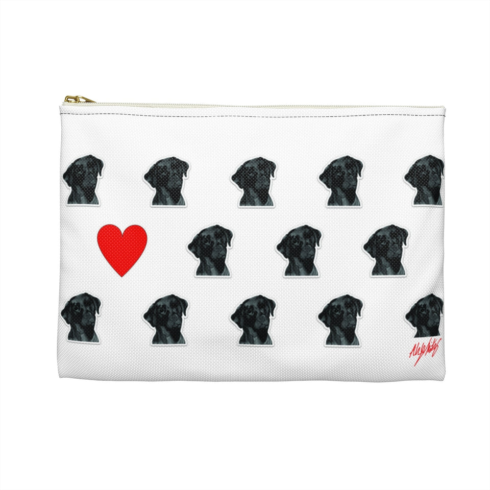 Stole My Heart Black Lab Zipper Pouch