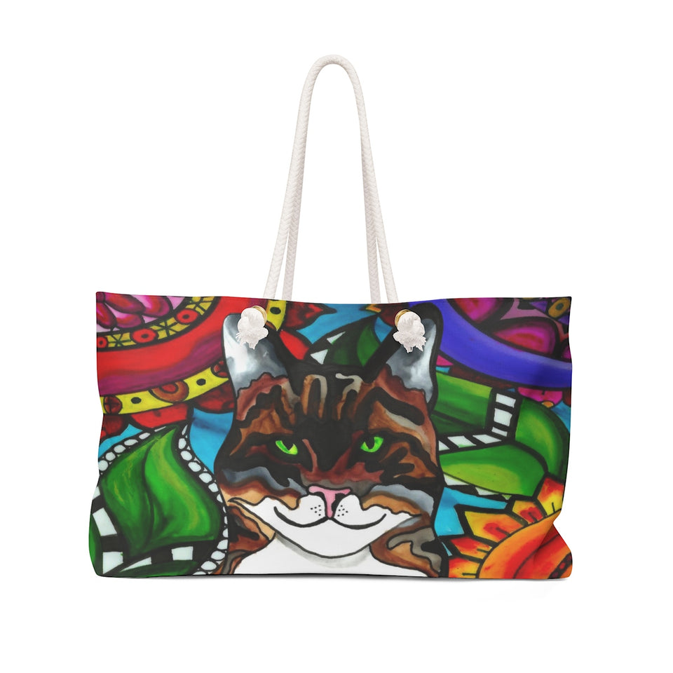 It's a Beautiful Tabby Cat Life Weekender Tote