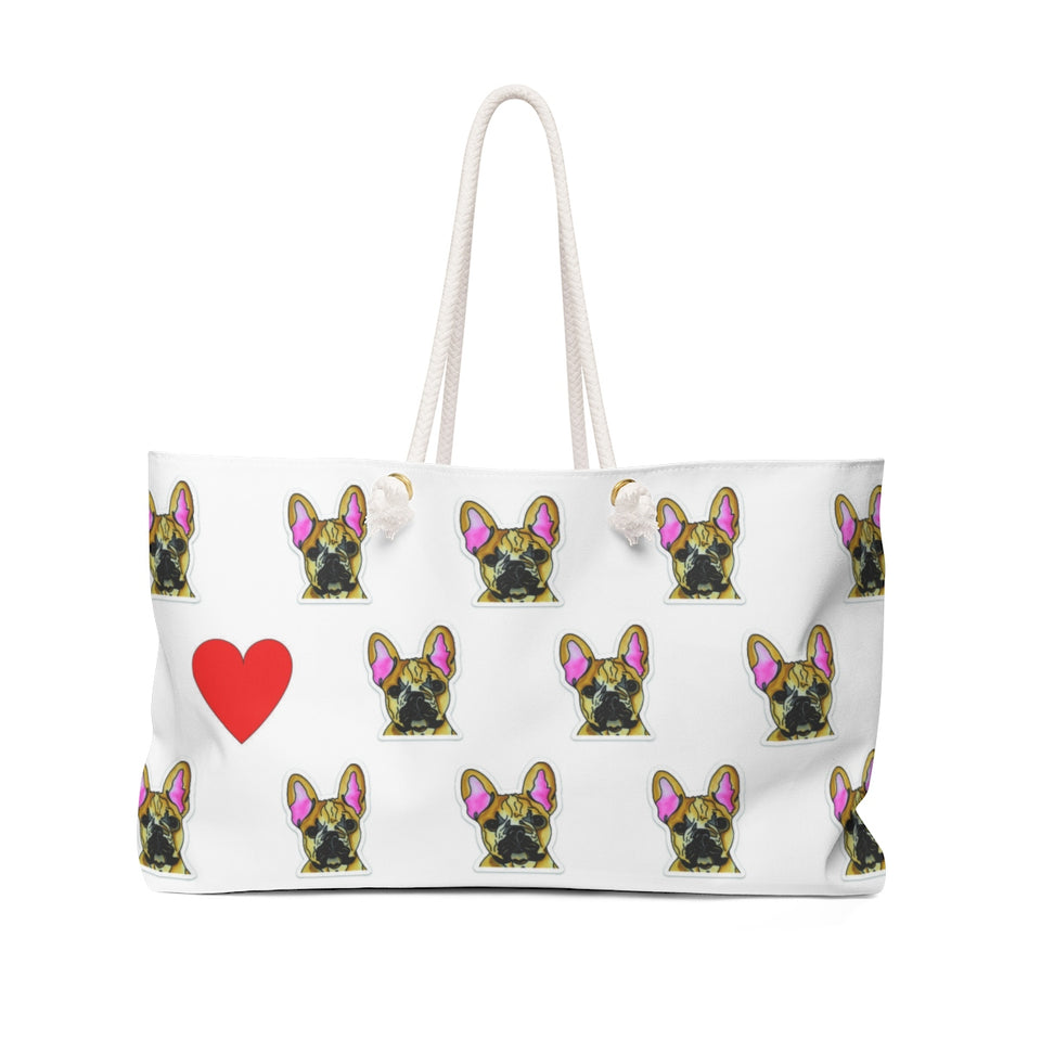 Stole My Heart French Bulldog Weekender Tote