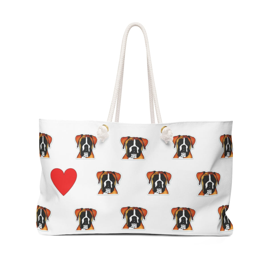 Stole My Heart Boxer Weekender Tote