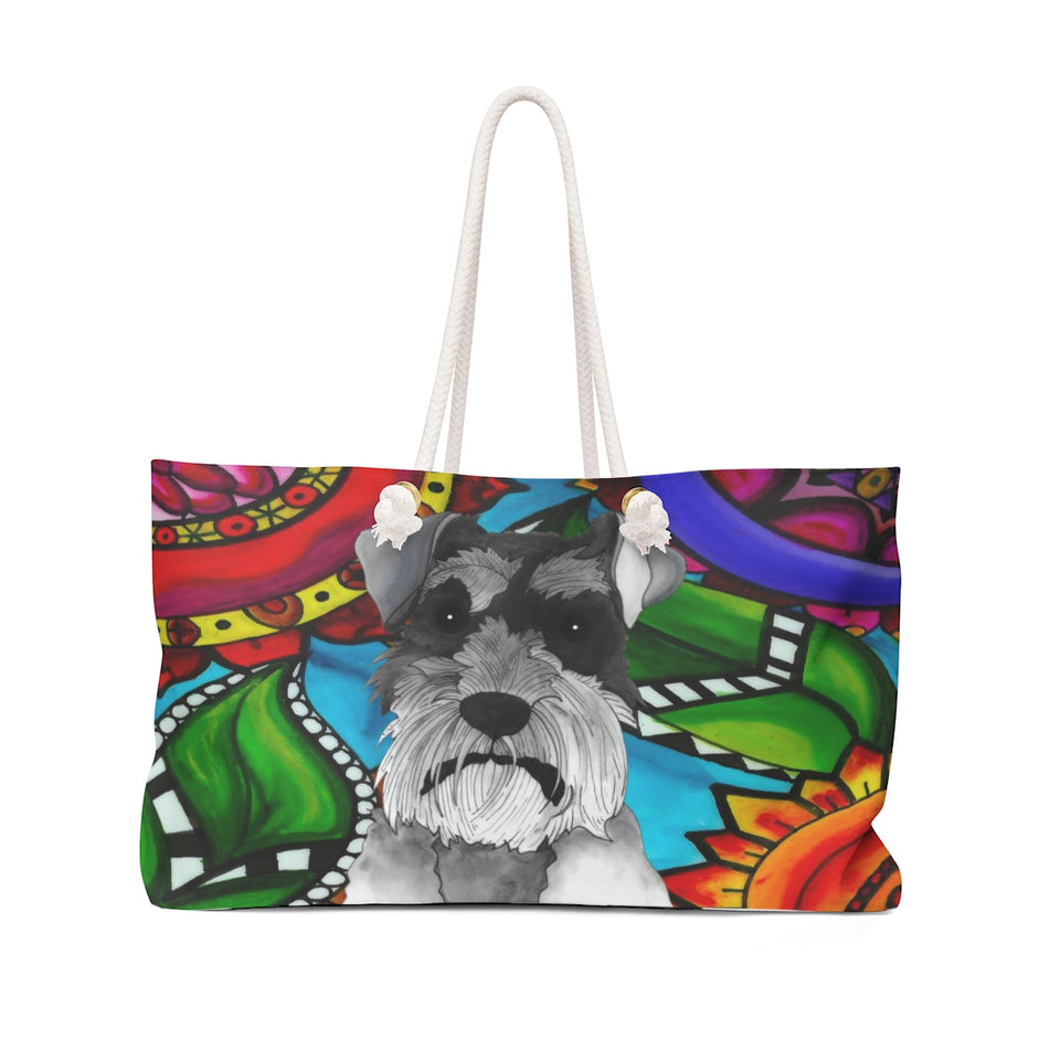 It's a Beautiful Schnauzer Life Weekender Tote