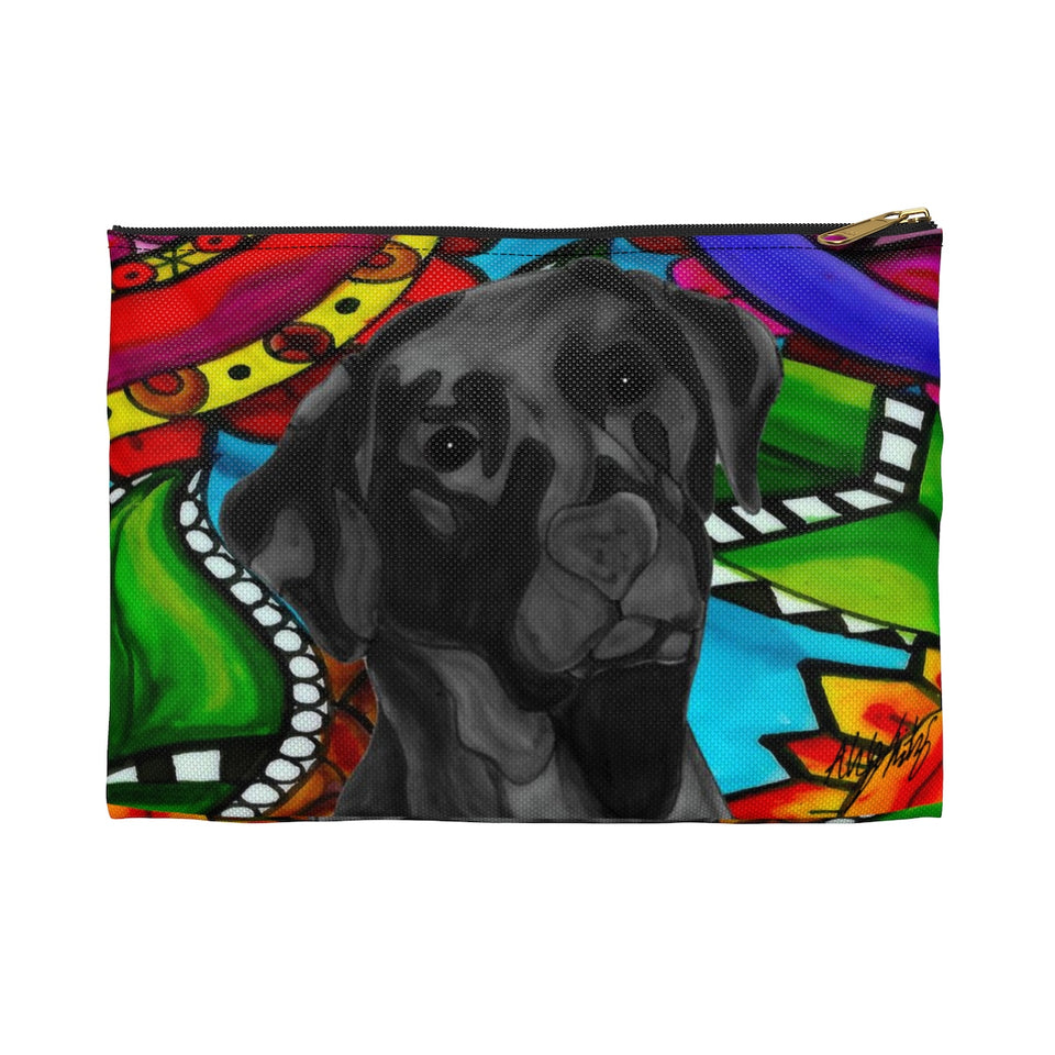 Black Lab Dog Zipper Pouch- BL