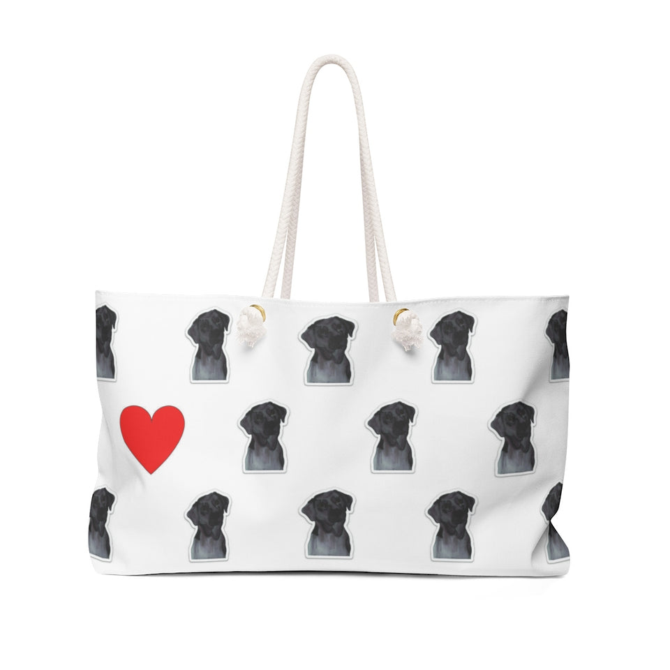 Chocolate Lab Dog Weekender Tote - SMH