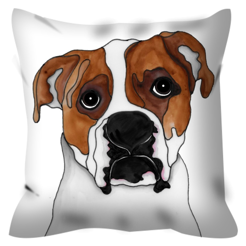 American Bulldog Outdoor Pillow - SMH