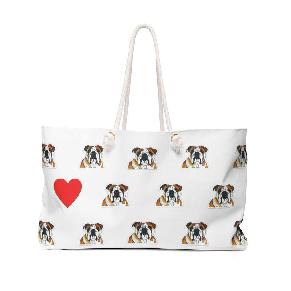 Stole My Heart Bulldog Weekender Tote