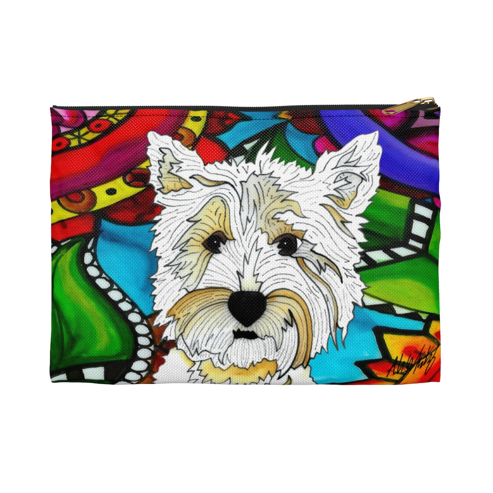 It's a Beautiful Highland Terrier Life Zipper Pouch