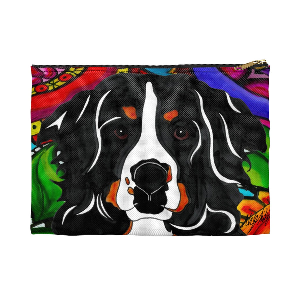 It's a Beautiful Bernese Mountain Dog Life Zipper Pouch