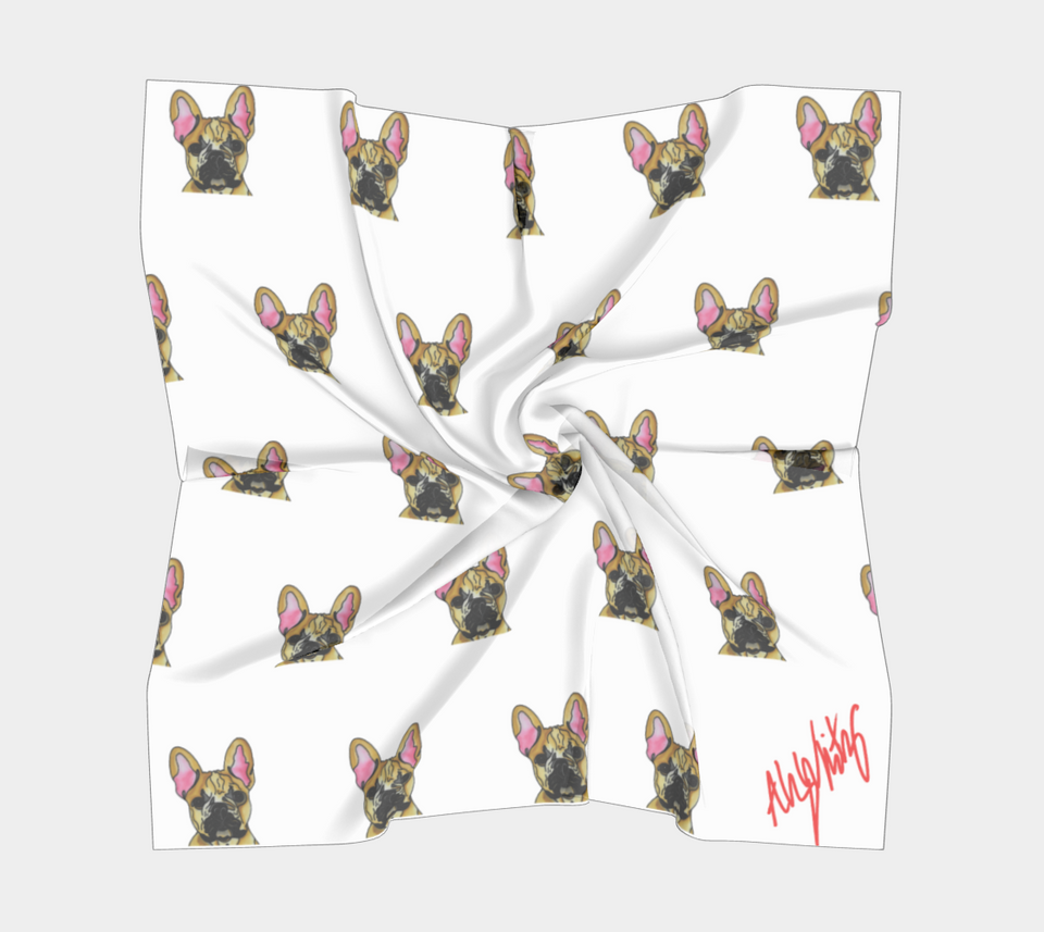 French Bulldog Square Scarf