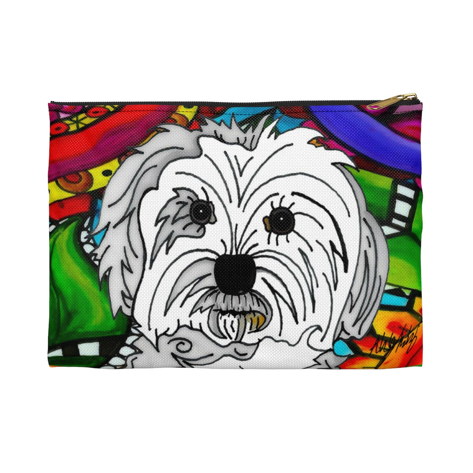 It's a Beautiful Maltese Life Zipper Pouch