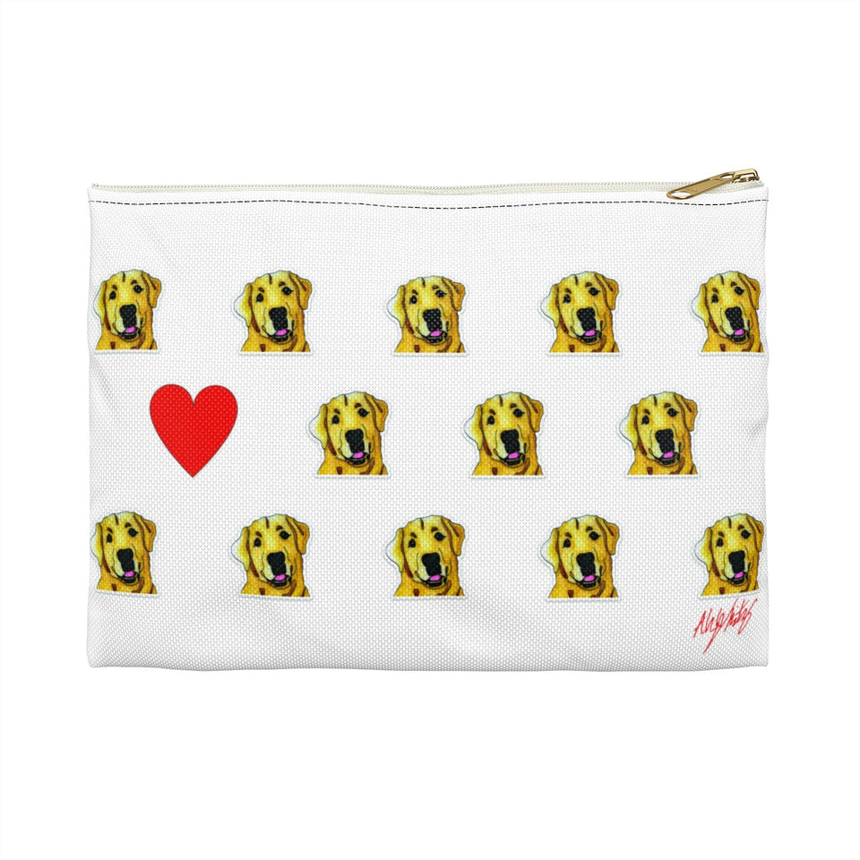 Stole My Heart Yellow Lab Zipper Pouch