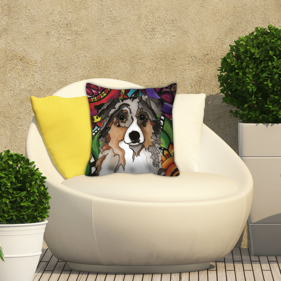 It's a Beautiful Australian Shepherd Life Outdoor Pillow