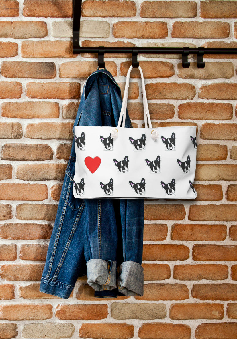 Boston Terrier Dog Weekender Tote- SMH