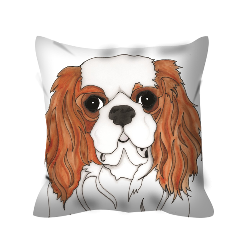 Stole My Heart Cavalier King Charles Outdoor Pillow
