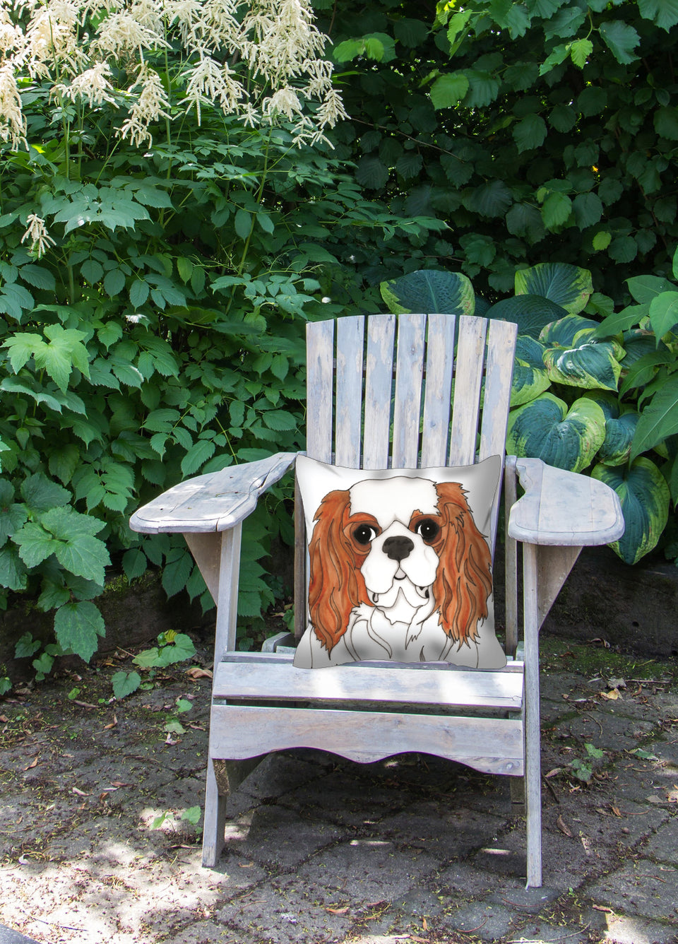 Cavalier King Charles Spaniel Dog Outdoor Pillow - SMH