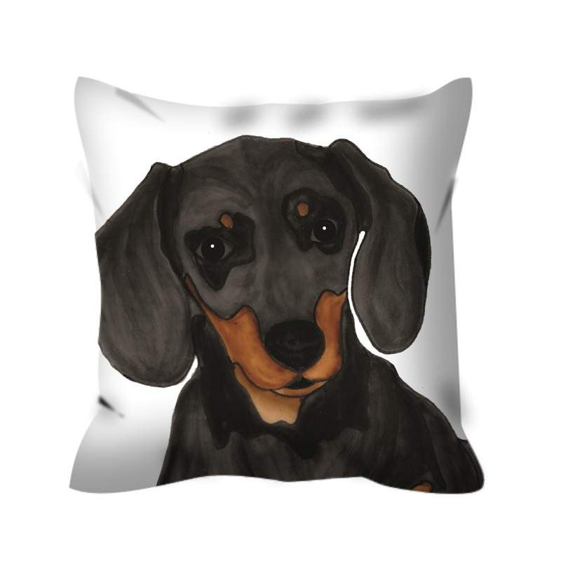 Stole My Heart Dachshund Outdoor Pillow