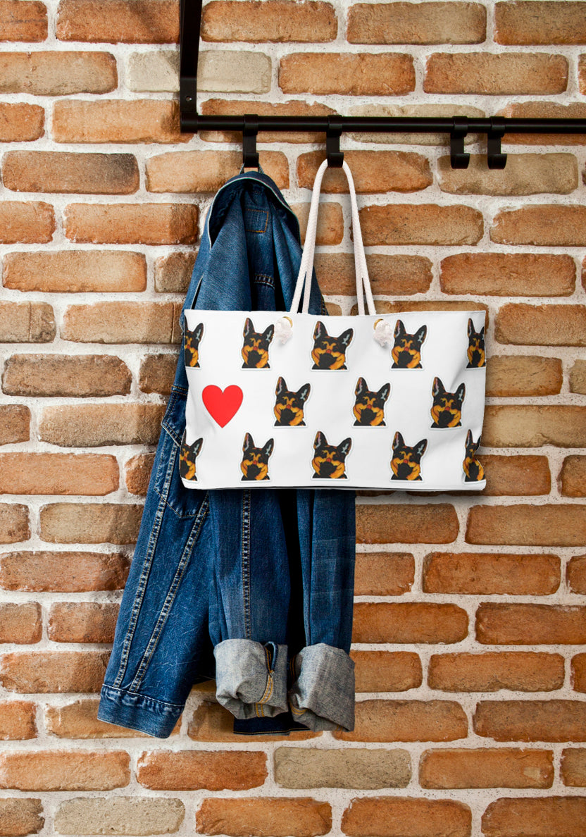 German Shepherd Dog Weekender Tote- SMH