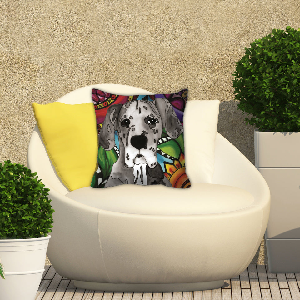 It's a Beautiful Great Dane Life Outdoor Pillow