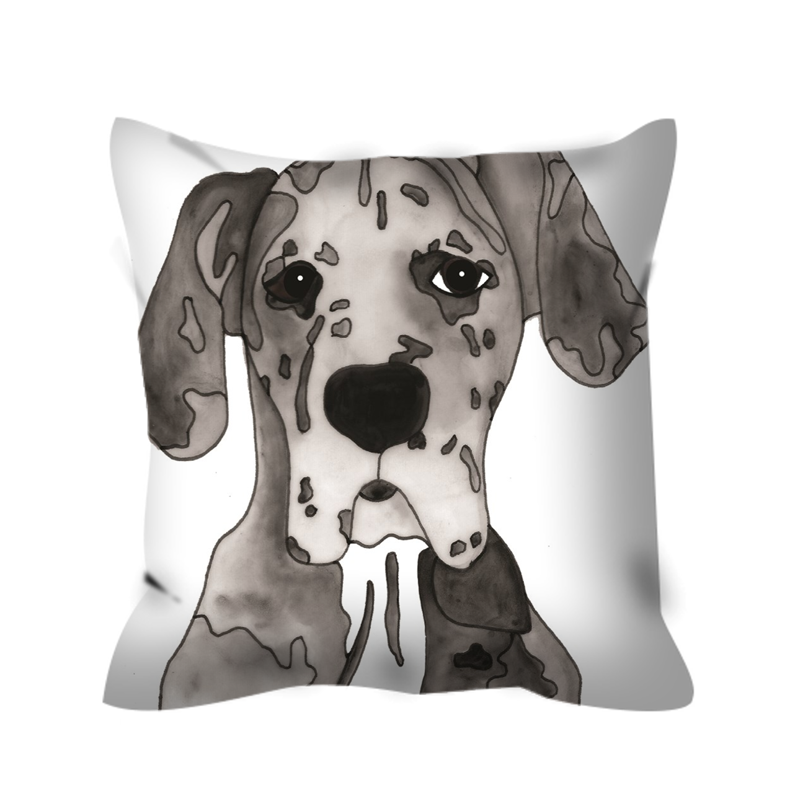 Stole My Heart Great Dane Outdoor Pillow