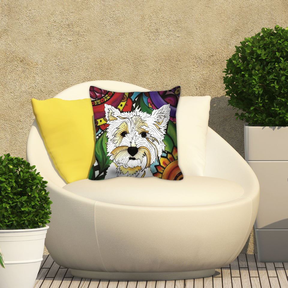 Highland Terrier Dog Outdoor Pillow - BL