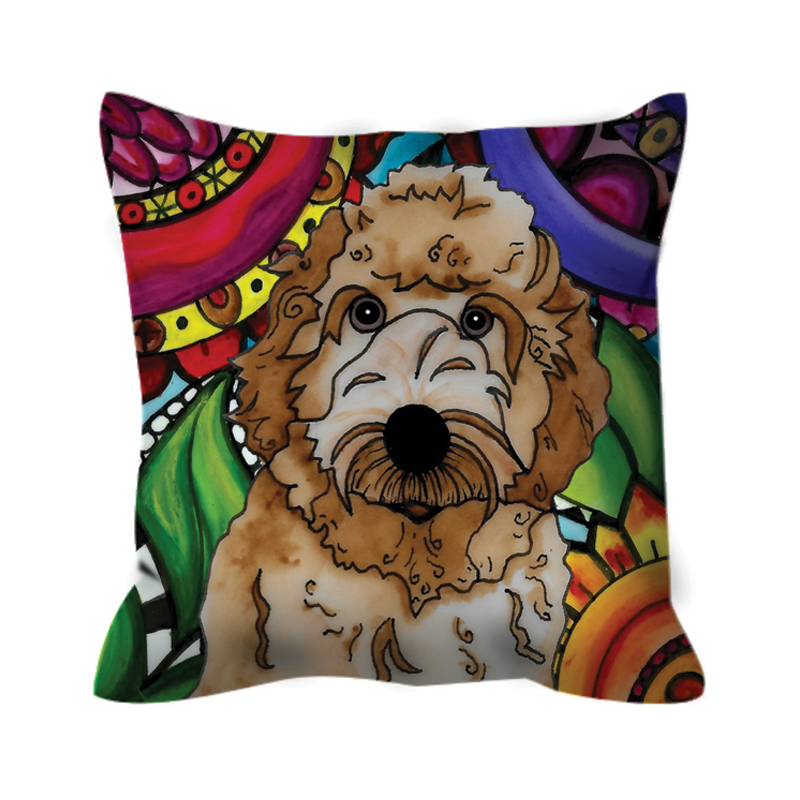 It's a Beautiful Labradoodle Life Outdoor Pillow