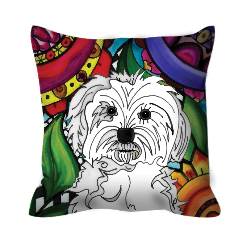 It's a Beautiful Maltese Dog Life Outdoor Pillow