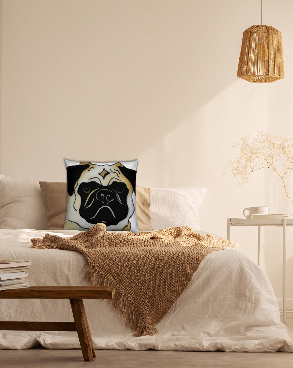 Pug Dog Indoor Pillow - SMH