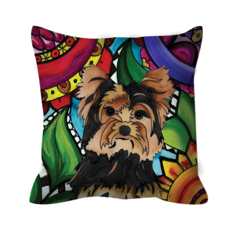 It's a Beautiful Yorkie Dog Life Outdoor Pillow