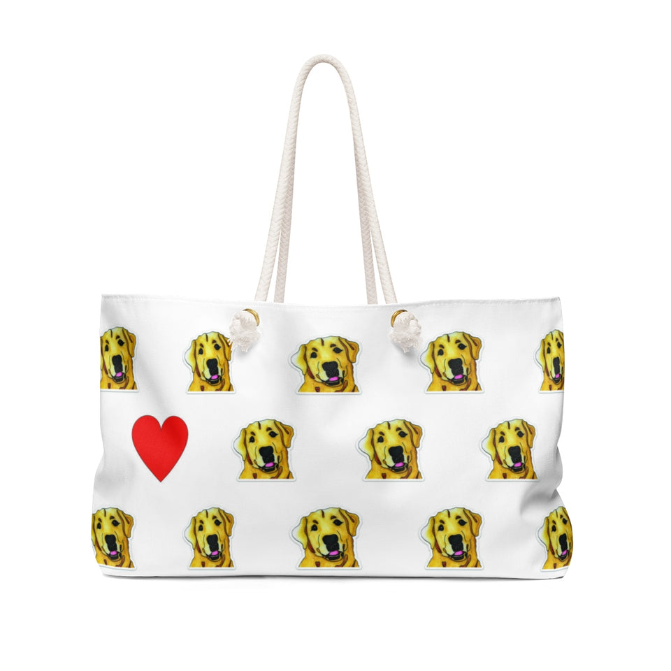 Stole My Heart Yellow Lab Weekender Tote