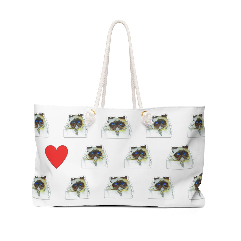 Stole My Heart Persian Weekender Tote
