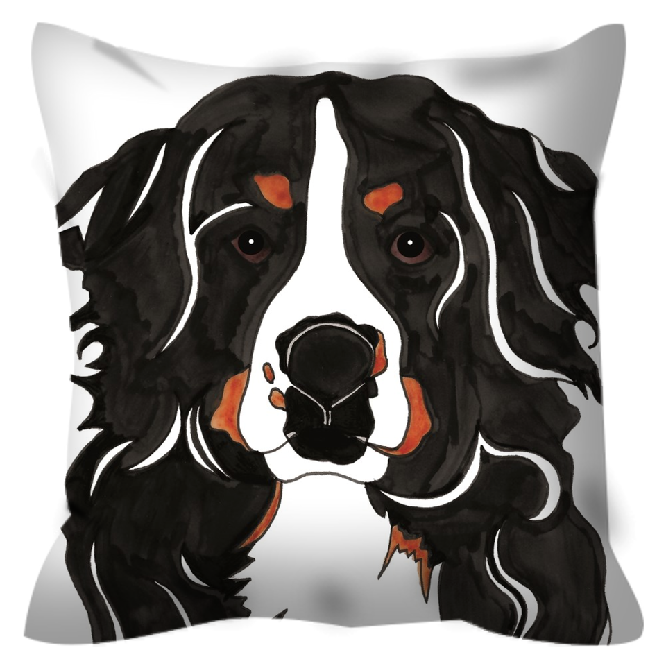 Bernese Mountain Dog Outdoor Pillow - SMH