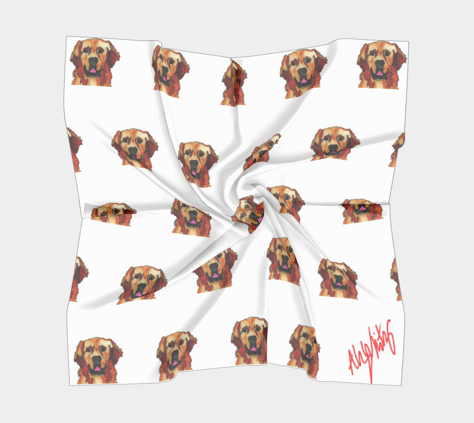 Golden Retriever Square Scarf