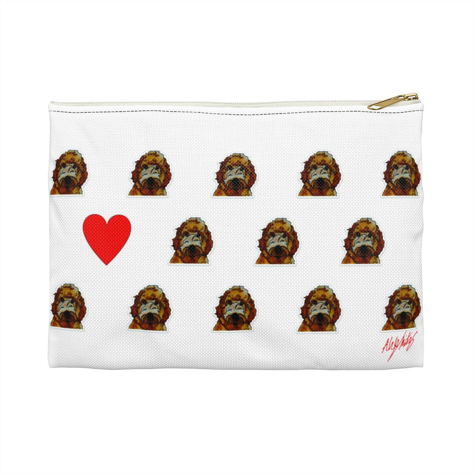 Stole My Heart Labradoodle Zipper Pouch