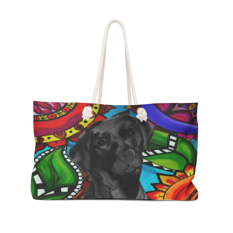 It's a Beautiful Black Lab Life Weekender Tote