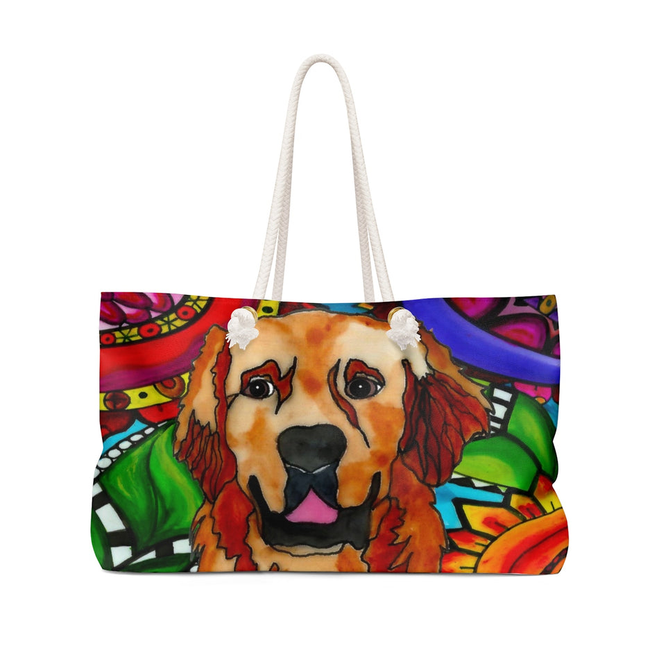Golden Retriever Dog Weekender Tote- BL