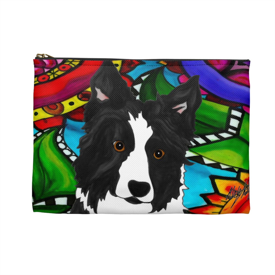 Border Collie Dog Zipper Pouch - BL