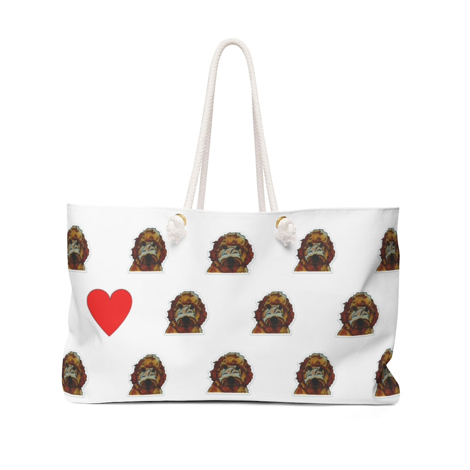 Stole My Heart Labradoodle Weekender Tote
