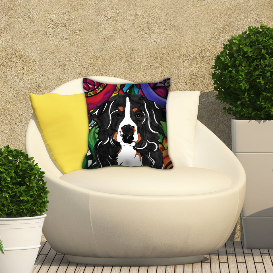 Bernese Mountiain Dog Outdoor Pillow - BL