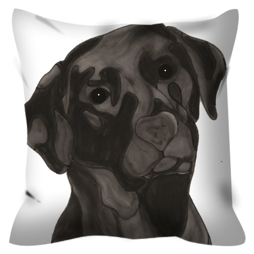 Black Lab Dog Outdoor Pillow - SMH