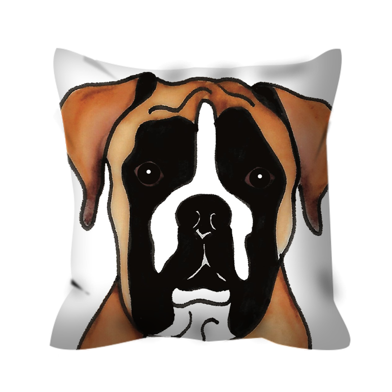 Stole My Heart Boxer Outdoor Pillow
