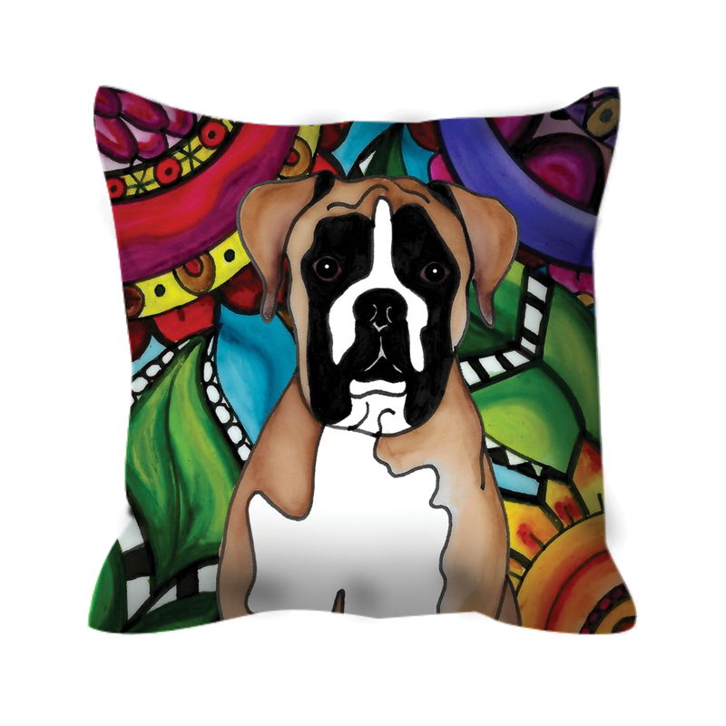 Boxer Dog Outdoor Pillow - 1 - BL