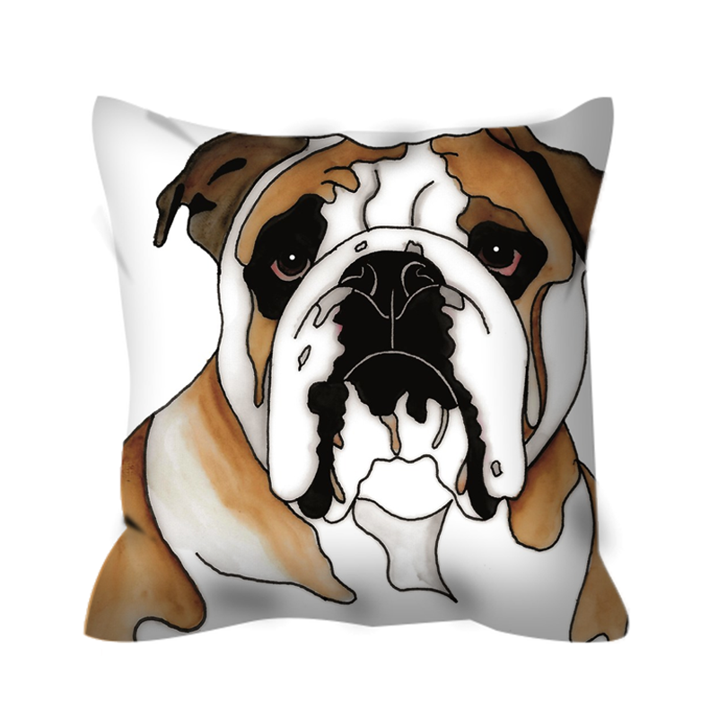 Stole My Heart Bulldog Outdoor Pillow