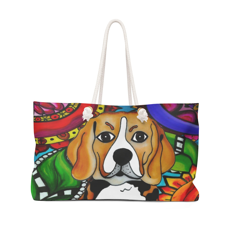 It's a Beautiful Beagle Life Weekender Tote