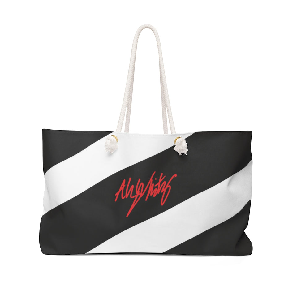 Alyson Whitney Striped Weekender Tote