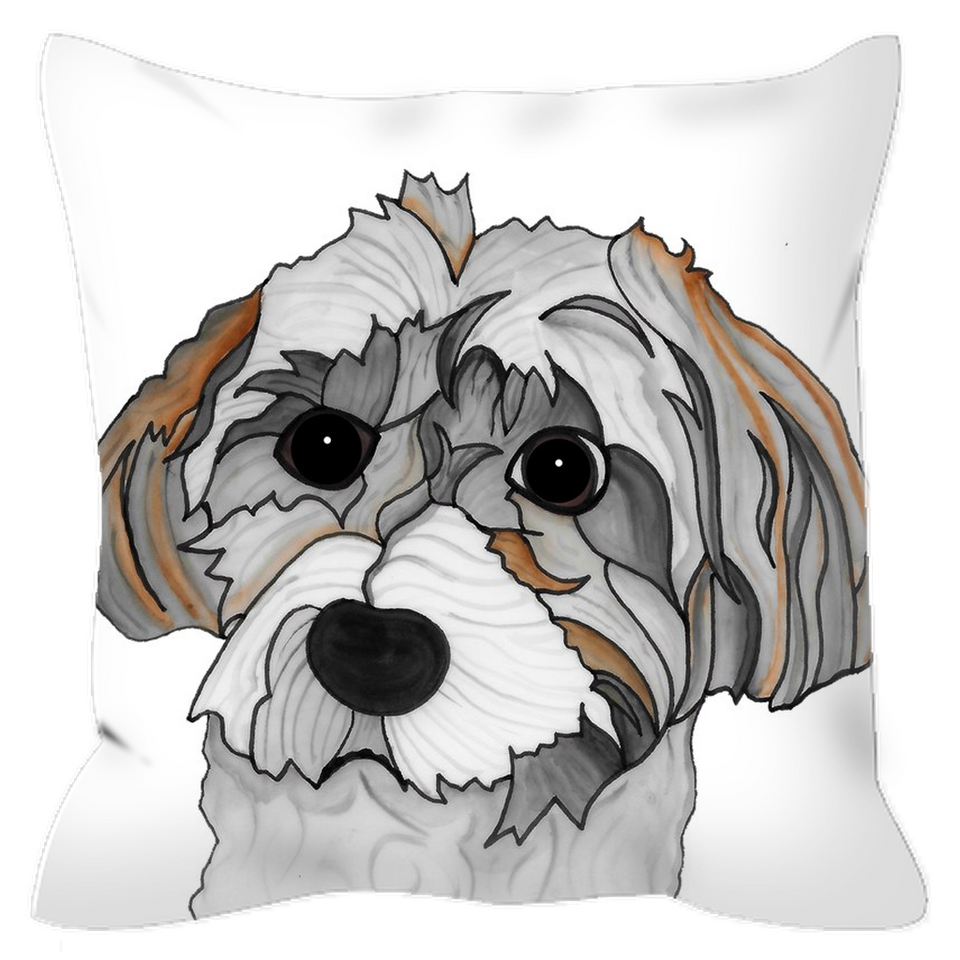 Havanese Dog Outdoor Pillow - SMH